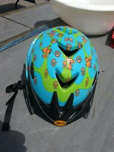 Aerogo kids bycicle helmet with dogs