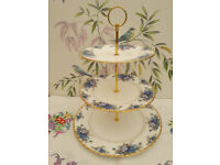 "Royal Albert ""Moonlight Rose"" XL cake stand"