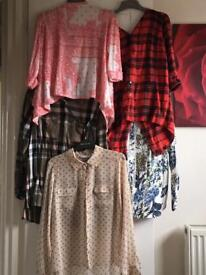 5 Ladies Size 10 Tops Blouses Shirts River Island