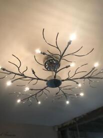 Gorgeous chrome ceiling light