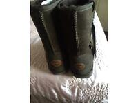 Ladies new brown sheepskin boots size 7