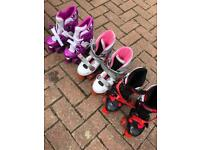 3 pairs roller skates quads £5 each