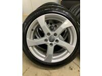 "Genuine 17"" Audi A3 alloy wheels and tyres Fit Golf-Leon-Volkswagen-Skoda"