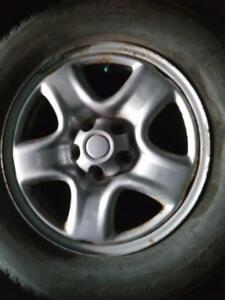 """16"""" TOYOTA RAV4 WINTER PACKAGE STEEL RIMS WITH 225/70R16 MICHELIN LATITUDE ALPINE WINTER TIRES FOR SALE"""