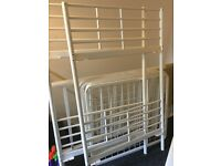 Single white bunk beds