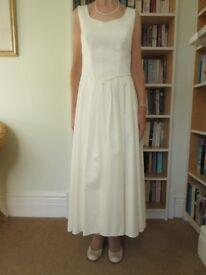 Wedding dress with matching Jacket Size 10 - 12