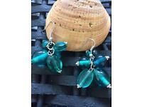 Handmade ocean blue mix colours earrings
