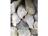 Granite blue stones