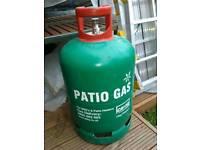 Patio gas bottle 1/3 full