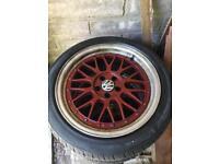 """X4 VW 17"""" 225/452 alloys & tyres"""