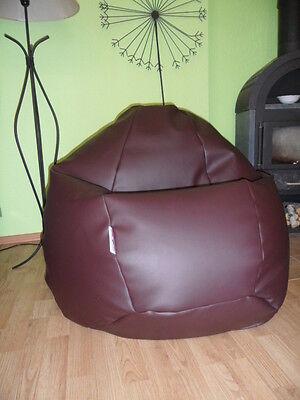 """Sitzsack  """" von Lux """" ca. 370 Liter  XXL Lederimitat braun / Ambiente heine Look"""