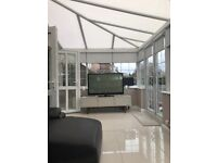 3600x6000 p-shape Edwardian conservatory with black out blinds, used for sale  Newcastle, Tyne and Wear