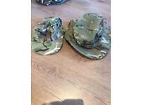 MTP summer jungle hat and flat peek hat.