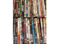 100s of DVDs for sale; comedy, action, classic, horror