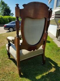 Pair of Victorian library chairs