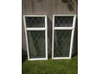 2 UPVC Windows with Lead Detailing - 1270mm x 560mm