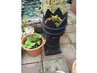 3 vintage victorian chimney pots