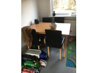 Dining table and 2 chairs great condition