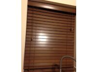 Wooden blinds - brown, 50 mm slats: 6 blinds but will separate