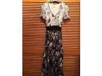 Beautiful black and white occasion dress size 14