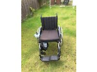 Quickie folding Wheelchair with Alber e-fix wheels
