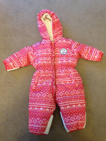 Baby snowsuit fleece lined