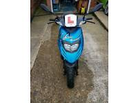 Blue typoon scooter
