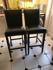 Quality bar stool chairs x2