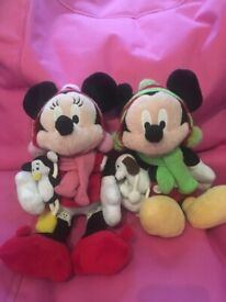 3 minnies and Mickey Mouse plush toys