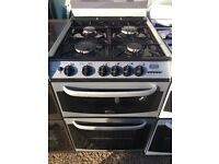 CANNON 55CM ALL GAS COOKER IN SILIVER WITH LID