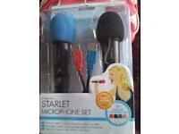 Wii STARLET MICROPHONE SET BRAND NEW STILL IN BOX DUET MODE COMPATABLE
