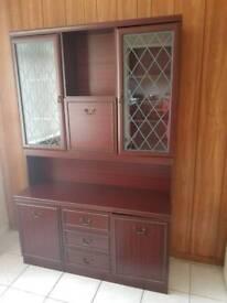 Teak/mahagony effect dresser / cabinet