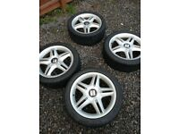 seat Leon cupra 17 inch alloys with tyres