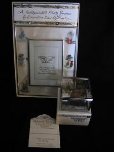 BEATRIX POTTER STAINED GLASS FRAME AND TRINKET BOX