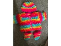 Baby Girl Loop Cardigan Set Hand Made for sale  Denton, Manchester