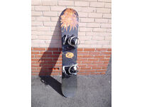 Snowboard with bindings Dragon Graphics 145cm - EXCELLENT PRICE!