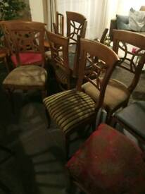 8 vintage chairs £5 each or £30/lot