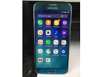 Samsung Galaxy S6 Smart Mobile phone unlocked. good condition Light Blue 32GB WITH warranty/ Receipt