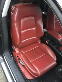Audi A3 3DR SLine Red Heated Leather Interior