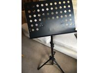 Heavy duty black music stand. Good condition. Adjustable height & angle