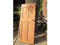 Four wooden cottage doors
