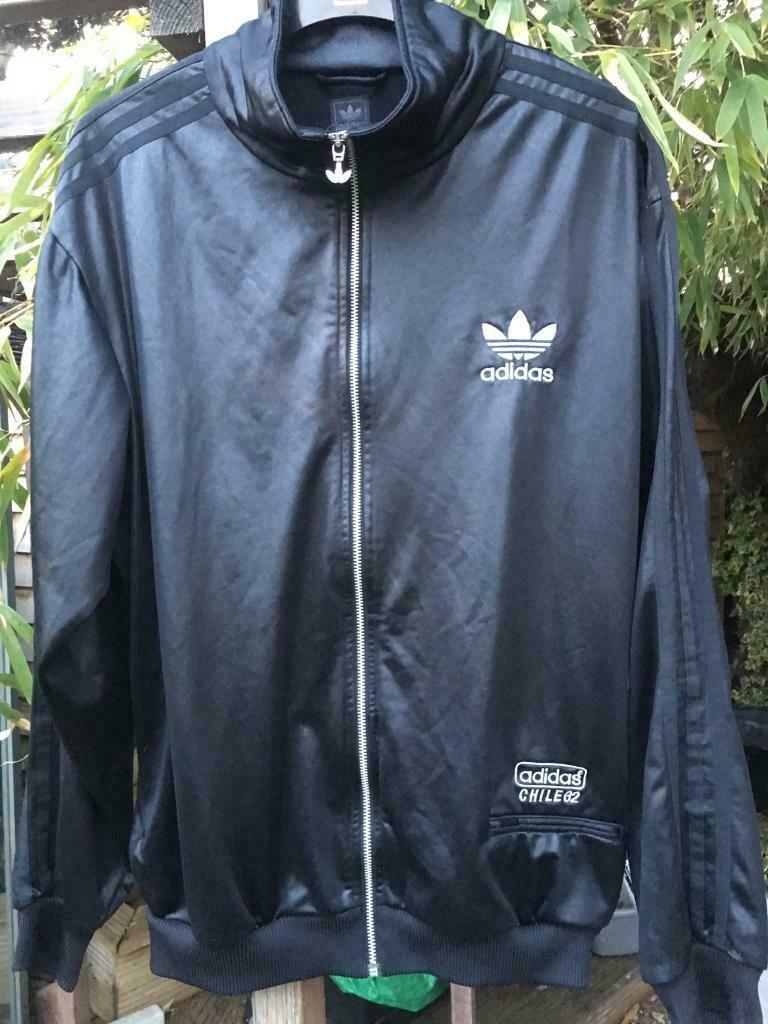 21451de7cfedcb ADIDAS Chile 62 Men's Wet Look Tracksuit Top XL Vintage 90s Original