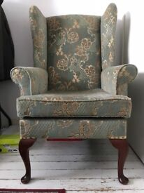 Wing back chair - great 2nd hand condition