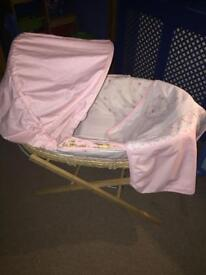 Baby girl's Moses basket (Mothercare)
