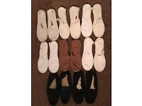 8x pairs of men's summer canvas shoes like toms size 8/9 CLEAROUT