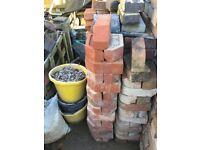 3 inch red plinth bricks