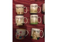 Starbucks city mugs. 15 in total. Never used. Limited editions