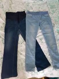 Maternity jeans x2 size 14
