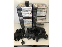 PS2 Bundle. 53 Games, 7 Controllers.