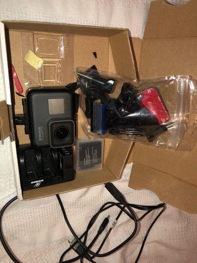 GoPro Hero 5 Black (4k) / SD CARD / Mounts / Extra batteries & Charger /  Metal Case | in Springboig, Glasgow | Gumtree